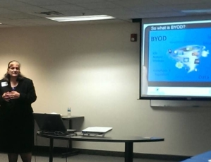 Kathy Ossian presenting on the Legal Risks of BYOD