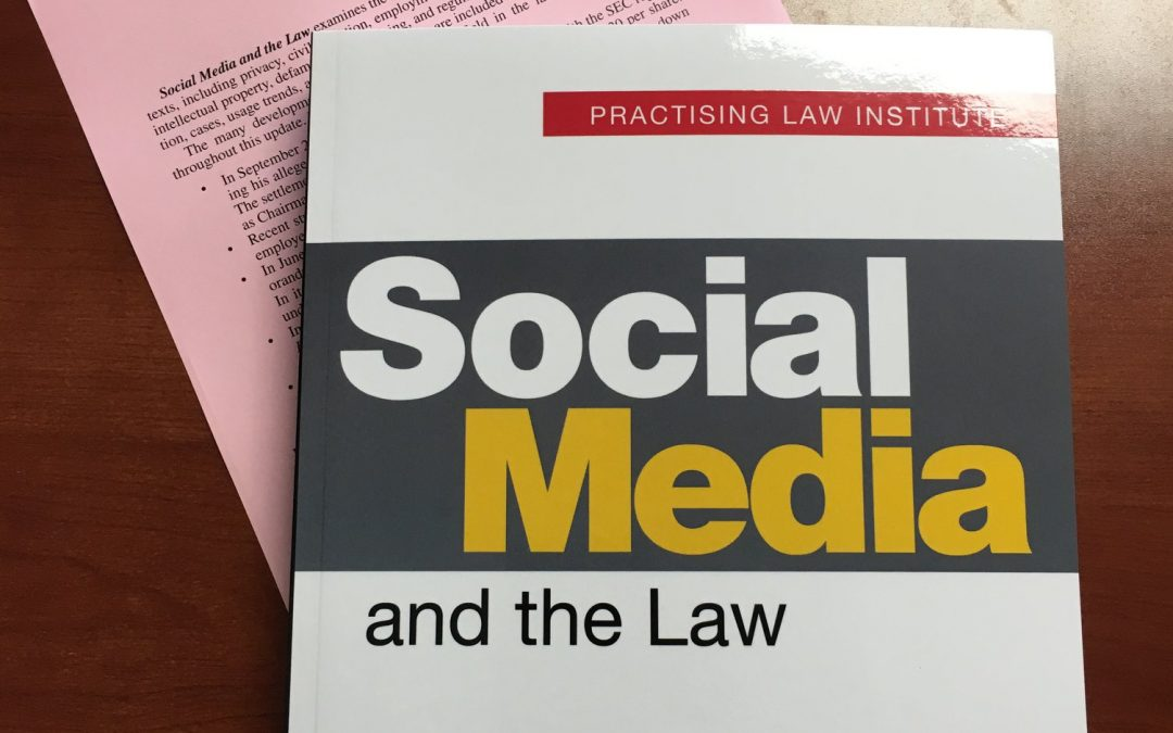 Social Media and the Law Book and update page